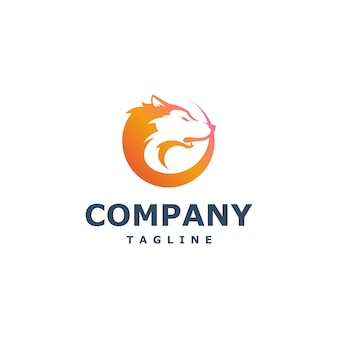 Vetor de logotipo de lobo