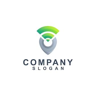 Vetor de logotipo de localização gps