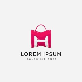 Vetor de logotipo de loja de moda de alta classe