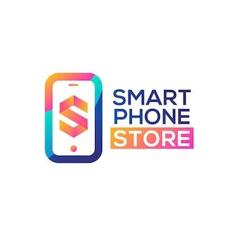 Vetor de logotipo de loja de telefone inteligente