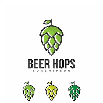 Vetor de logotipo de lúpulo de cerveja