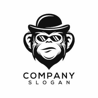 Vetor de logotipo de macaco