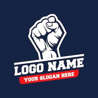 Vetor de logotipo de mãos cerradas
