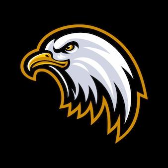 Vetor de logotipo de mascote de cabeça de águia