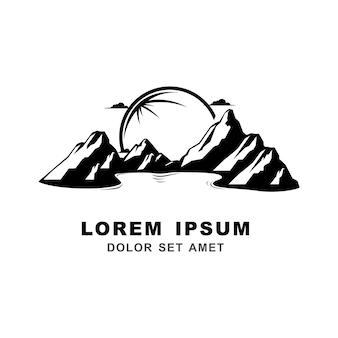 Vetor de logotipo de montanha paisagem