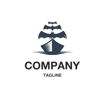 Vetor de logotipo de navio fantasma