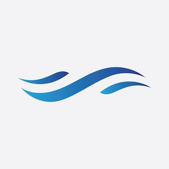Vetor de logotipo de onda azul. projeto de modelo de ilustração de ondas de água