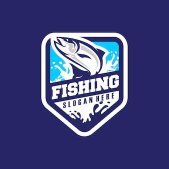 Vetor de logotipo de pesca