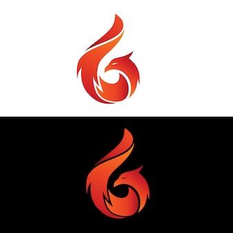 Vetor de logotipo de phoenix