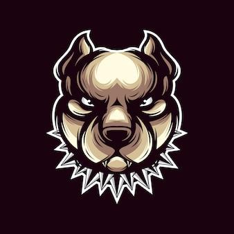 Vetor de logotipo de pit bull