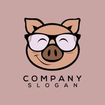 Vetor de logotipo de porco