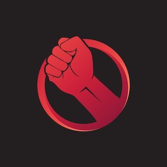Vetor de logotipo de punho de mão