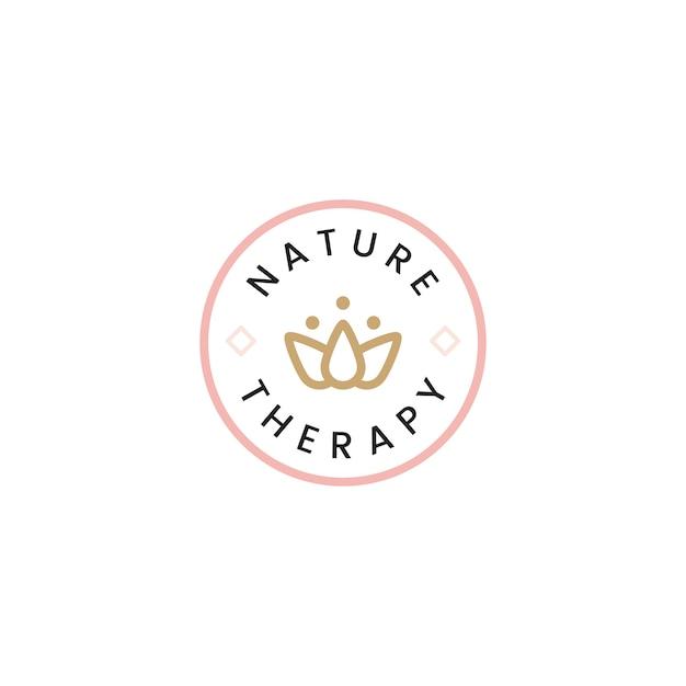 Vetor de logotipo de spa de terapia de natureza