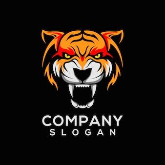 Vetor de logotipo de tigre
