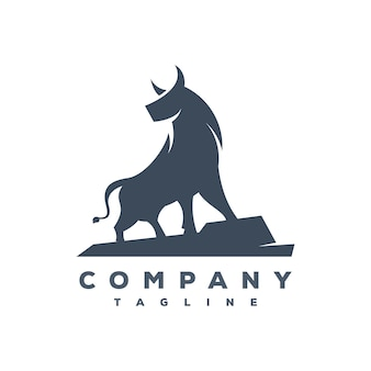 Vetor de logotipo de touro