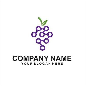 Vetor de logotipo de uva