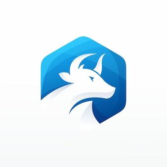 Vetor de logotipo de vaca