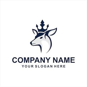 Vetor de logotipo de veado de rainha