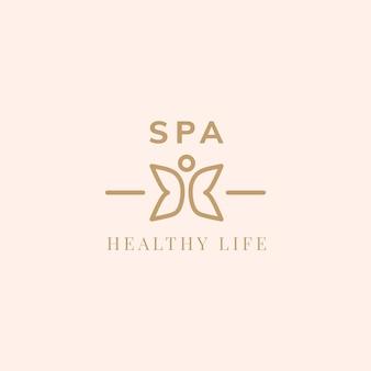 Vetor de logotipo de vida saudável spa