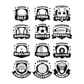 Vetor de logotipo do esporte 12