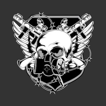 Vetor de logotipo do exército escuro
