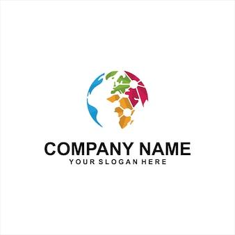 Vetor de logotipo do globo