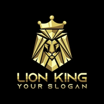 Vetor de logotipo do leão rei, modelo, ilustração