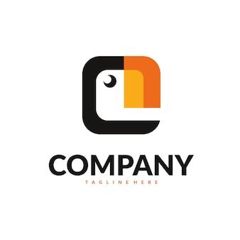 Vetor de logotipo do papagaio