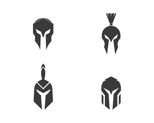 Vetor de logotipo espartano
