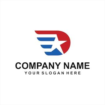 Vetor de logotipo estrela leter d