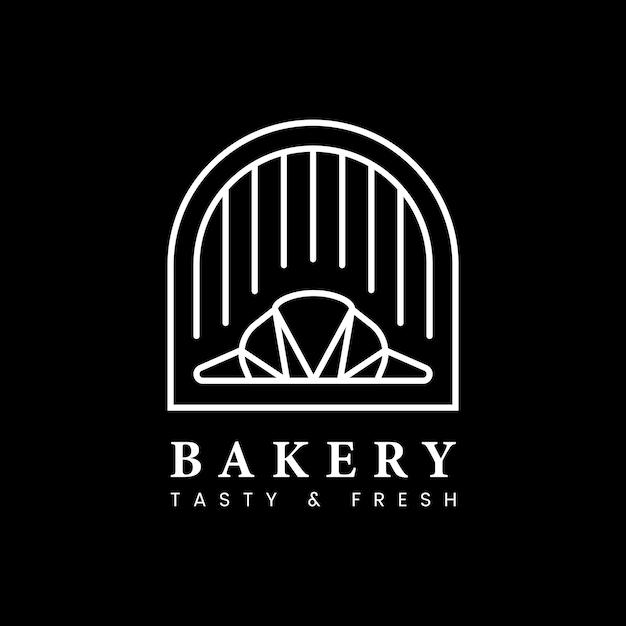 Vetor de logotipo fresco loja de pastelaria padaria