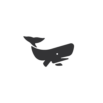 Vetor de logotipo grande baleia