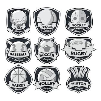Vetor de logotipo internacional de esporte