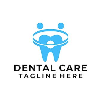 Vetor de logotipo moderno de atendimento odontológico