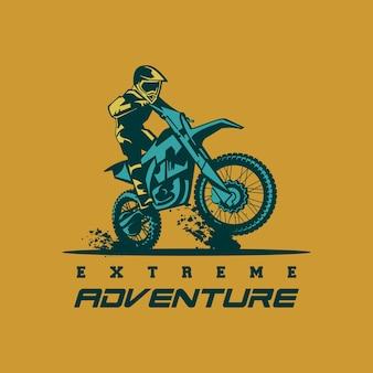Vetor de logotipo moto cruz