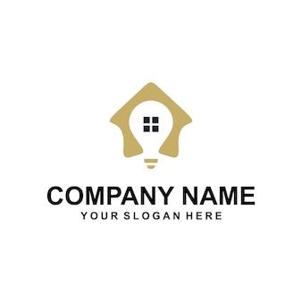 Vetor de logotipo para casa inteligente