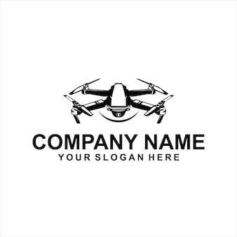 Vetor de logotipo preto drone