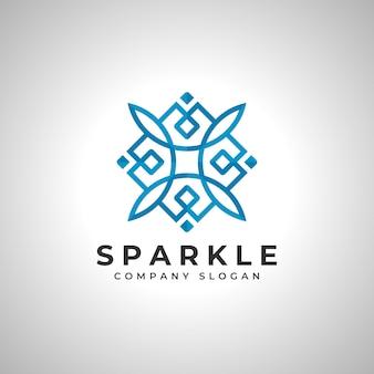 Vetor de logotipo quadrado abstrato faísca