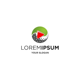 Vetor de logotipo simples de estúdio de golfe