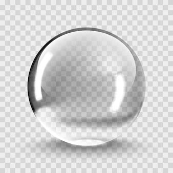 Vetor de luz bola de cristal em fundo transparente. bola transparente de esfera clara. bolha eps 10 transparente.