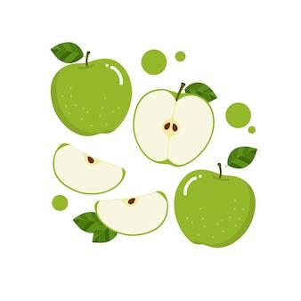 Vetor de maçã verde