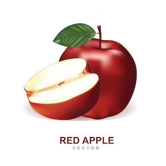 Vetor de maçã vermelha