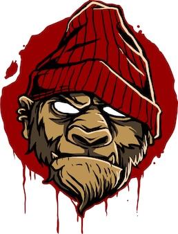 Vetor de macaco hype