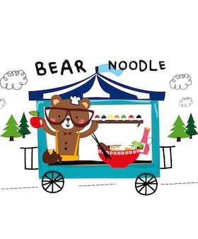 Vetor de macarrão de urso