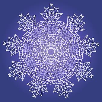 Vetor de mandala de meditação fractal étnica