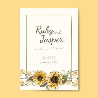 Vetor de maquete de cartão de convite de casamento