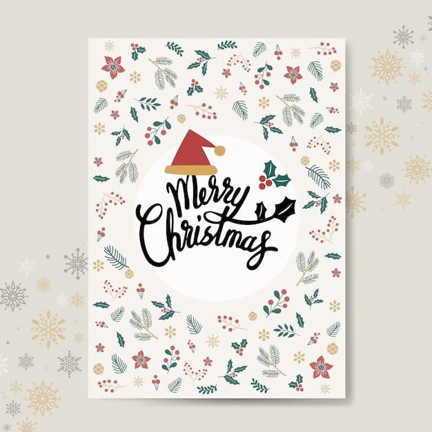 Vetor de maquete de cartão de natal