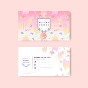 Vetor de maquete de cartão de nome pastel