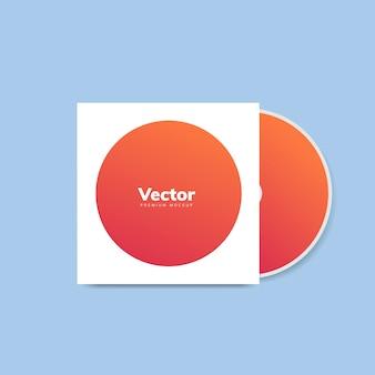 Vetor de maquete de design de capa de cd