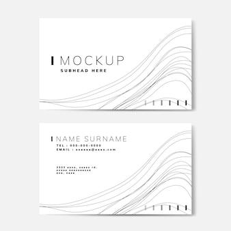 Vetor de maquete do cartão de nome padrão de onda